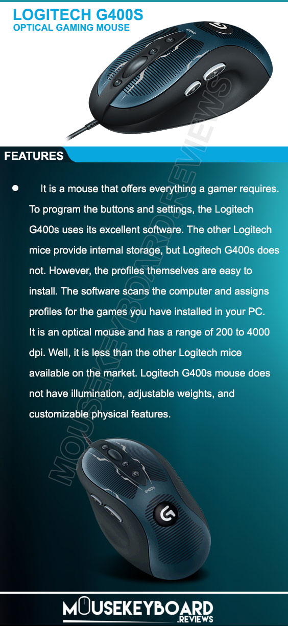 Logitech G400s gaming mouse reviews 2018